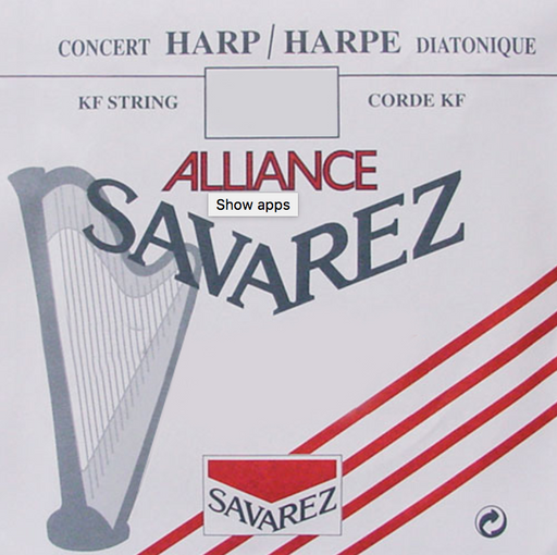 1st Octave B - Alliance® Fluorocarbon KF HKA0 Harp String by Saverez - CAM6KFHC0