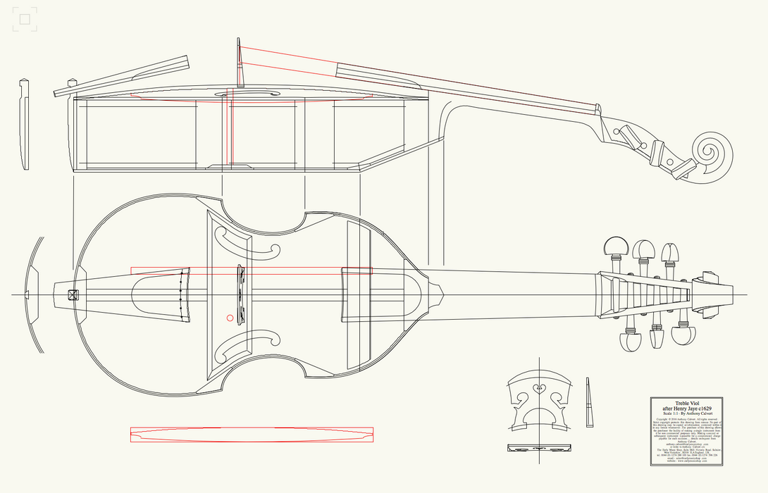 EMS Treble Viol Kit - for home assembly
