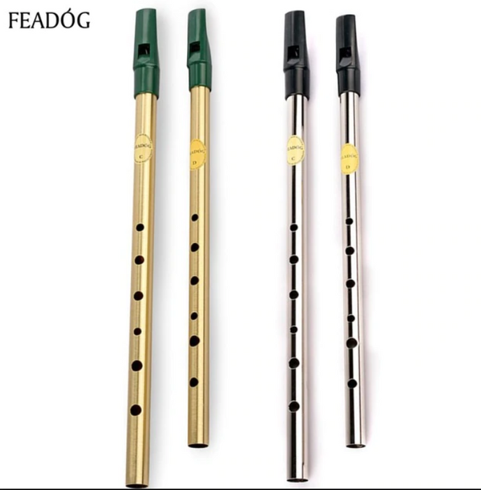 Feadóg Soprano Whistle in D - brass finish