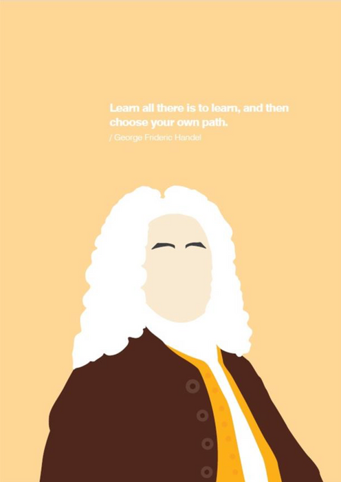 Greetings Card: Handel Portrait