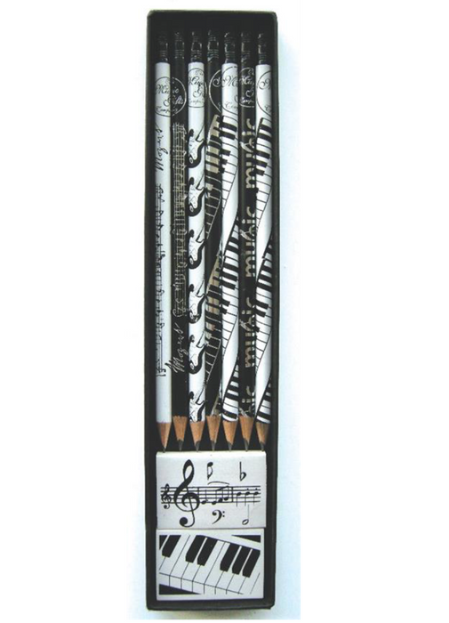 Boxed Pencil Set with Music Design
