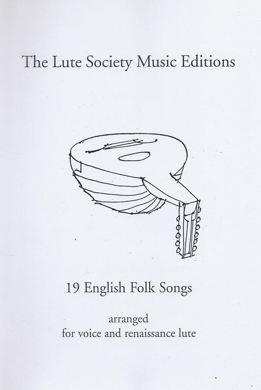 Various: 19 English Folk Songs for Voice and Renaissance Lute