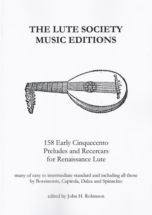Various: 158 Early Cinquecento Preludes and Recercars for Renaissance Lute
