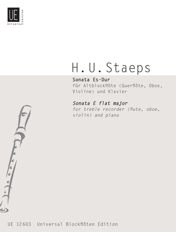 Staeps: Sonata in E flat Major for Treble Recorder and Piano