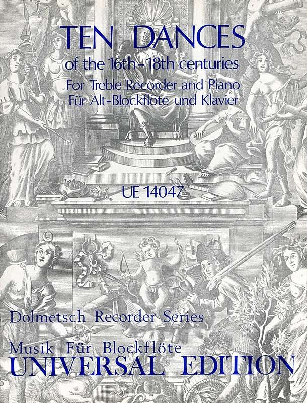 Various: 10 Dances of the C16th-18th for Treble recorder and Piano