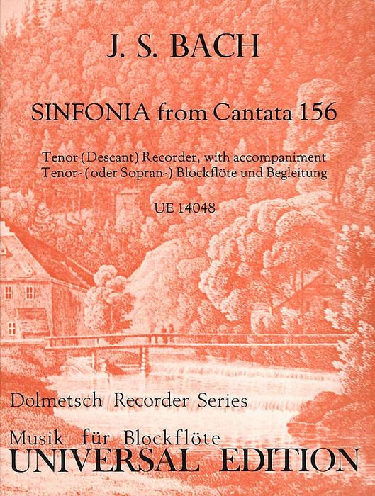Bach, J.S.: Sinfonia from Cantata 156 for Tenor Recorder and Harpsichord