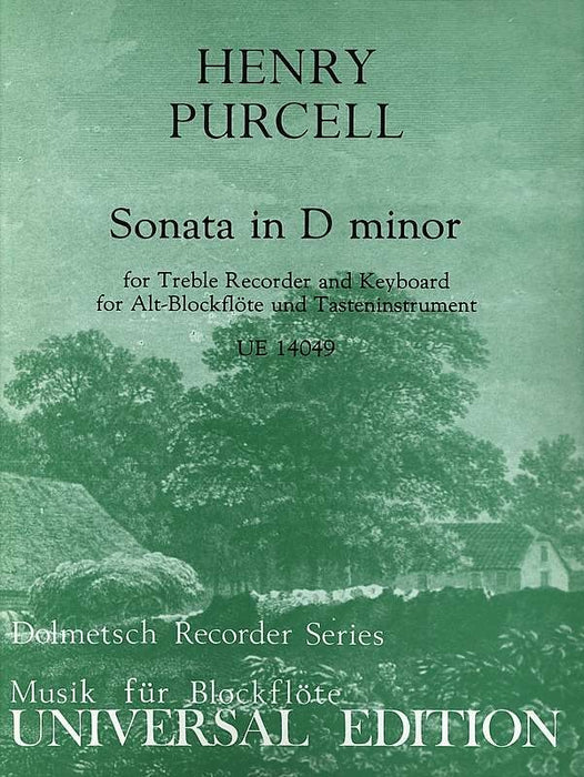 Purcell: Sonata in d minor for Treble Recorder and Keyboard