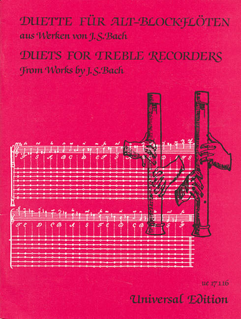 Duets for Treble Recorders - Works by J.S. Bach