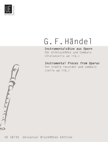 Handel: Instrumental Pieces from Operas for Treble Recorder and Harpsichord