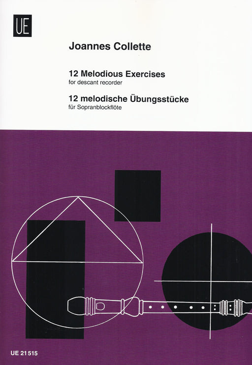 Collette: 12 Melodious Exercises for Descant Recorder