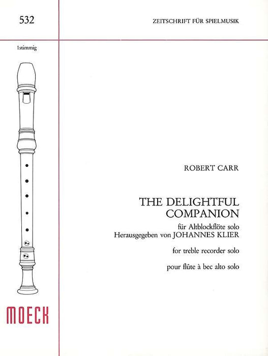 Carr: The Delightful Companion for Treble Recorder Solo