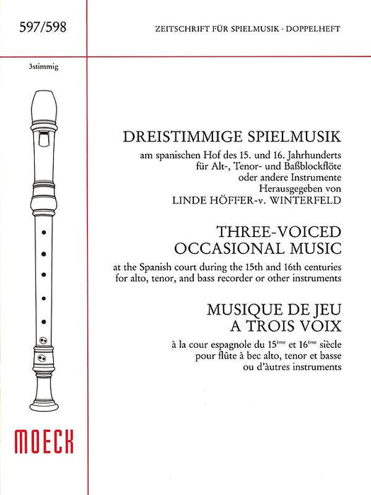 Various: Three-Voiced Occasional Music for 3 Recorders
