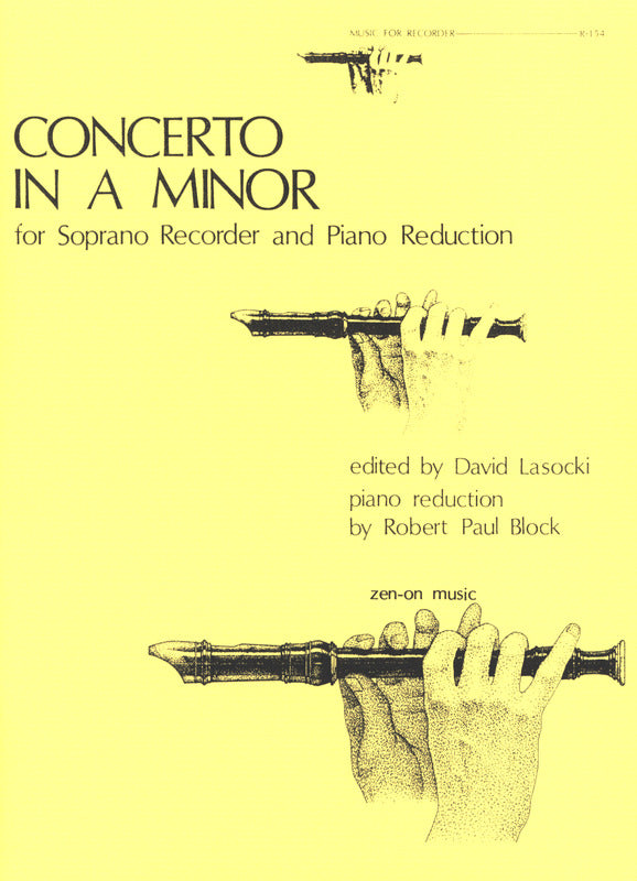 Dieupart: Concerto in a minor for Soprano Recorder and Keyboard