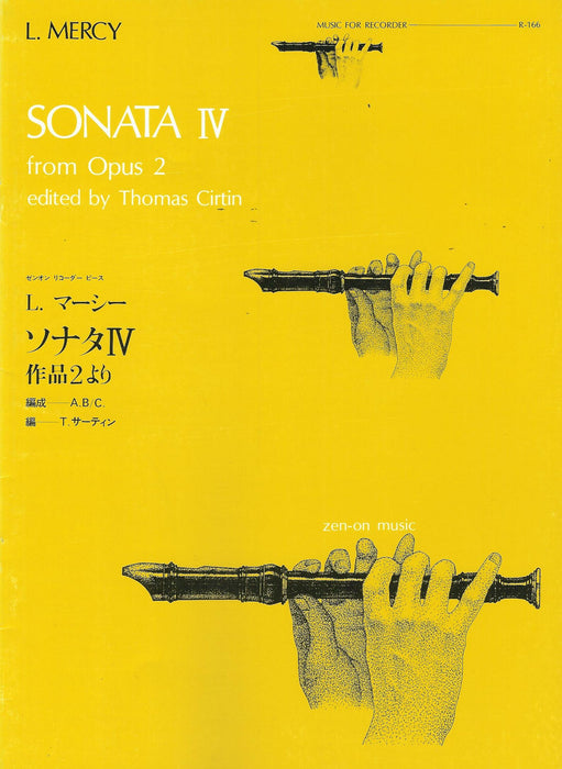 Mercy: Sonata IV for Alto Recorder and Continuo