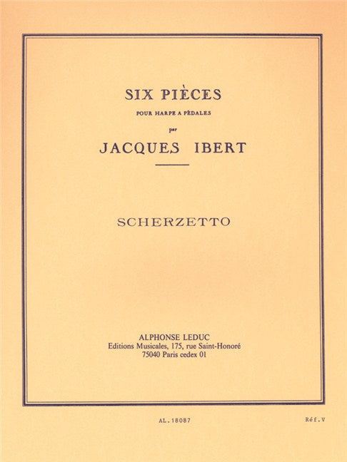 Ibert: Six Pieces for Harp - No. 2 Scherzetto