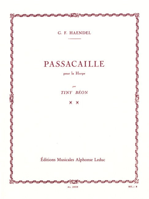 Handel: Passacaille for Harp