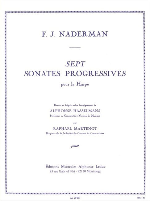 Nadermann: 7 Progressive Sonatas for Harp