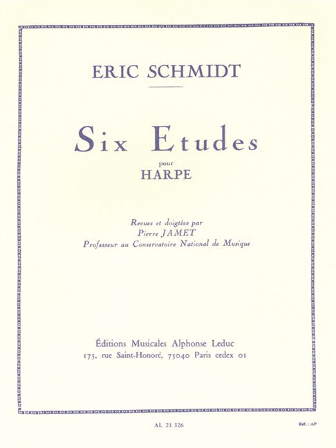 Schmidt: Six Etudes for Harp