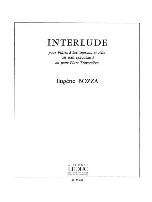 Bozza: Interlude for Recorder Solo