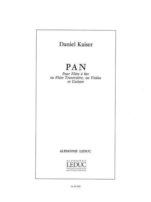 Kaiser: Pan for Alto Recorder and Guitar