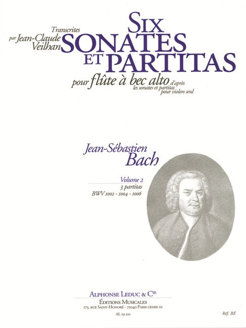 Bach, J.S.: 6 Violin Sonatas & Partitas - Volume 2 for Alto Recorder
