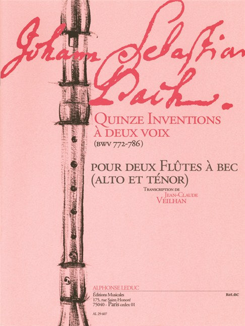 Bach, J.S.: 15 Inventions for Recorder Duet