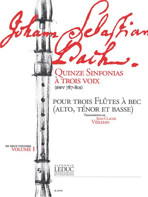 Bach, J.S.: 15 Sinfonias for Recorder Trio - Volume 1