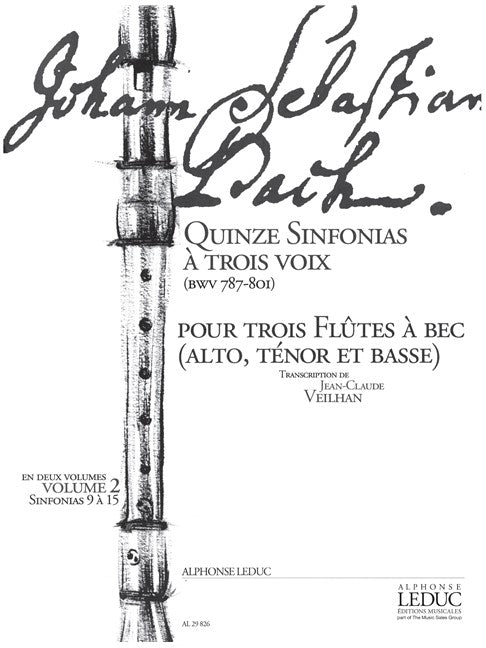 Bach, J.S.: 15 Sinfonias for Recorder Trio - Volume 2