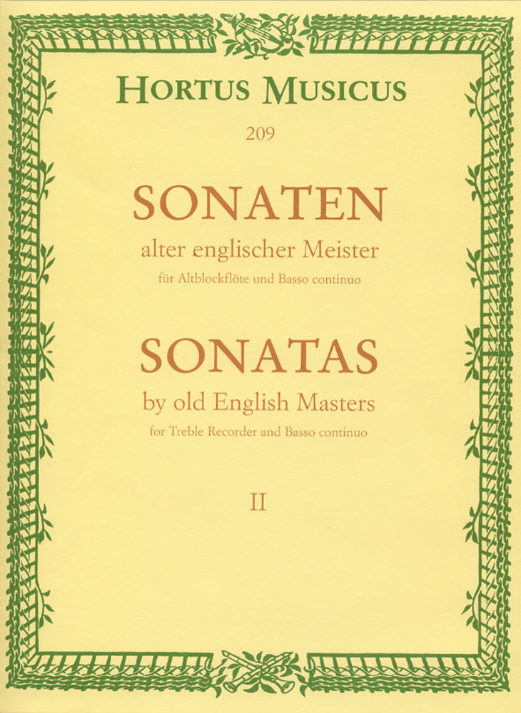 Various: Sonatas by Old English Masters for Treble Recorder and Basso Continuo, Vol. 2