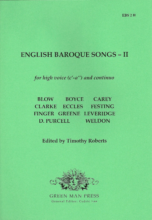 Various: English Baroque Songs for High Voice- Volume II