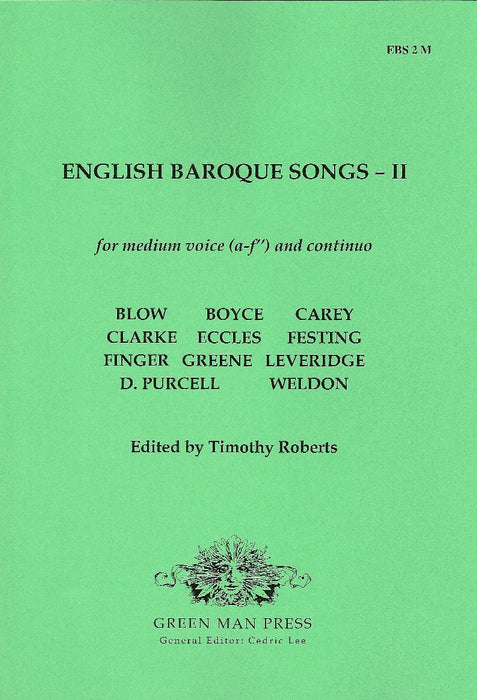 Various: English Baroque Songs for Medium Voice- Volume II