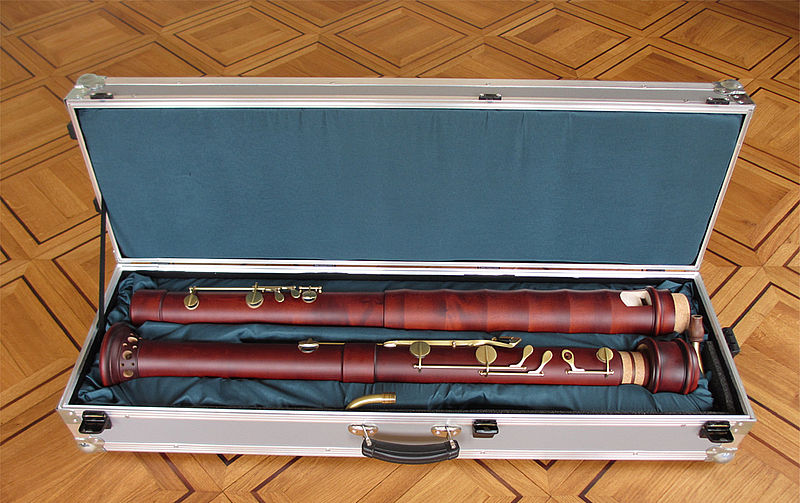 Kung Superio Contra Bass Recorder in Stained Maple