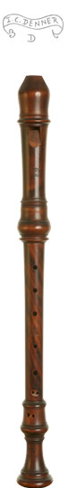 Wenner Voice Flute after Denner in Maracaibo Boxwood (a=415)