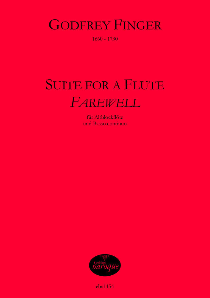 "Finger: Suite for a Flute ""Farewell"" for Treble Recorder"