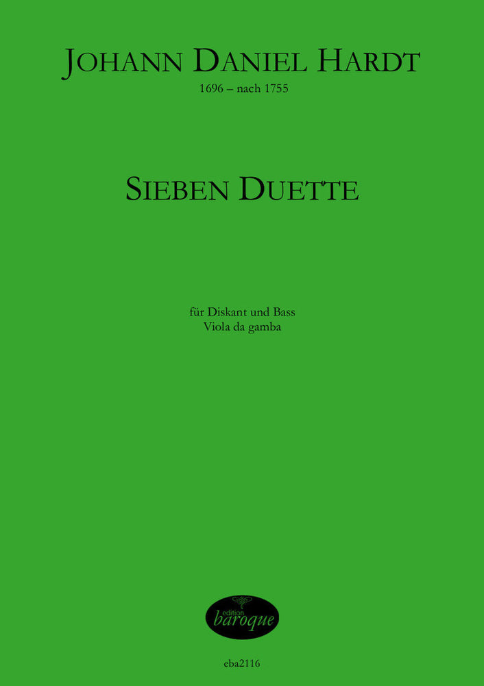 Hardt: 7 Duets for Treble and Bass Viols