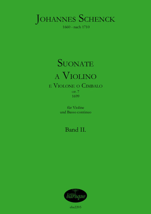 Schenck: Works for Violin and Basso Continuo Op. 7, Vol. 2