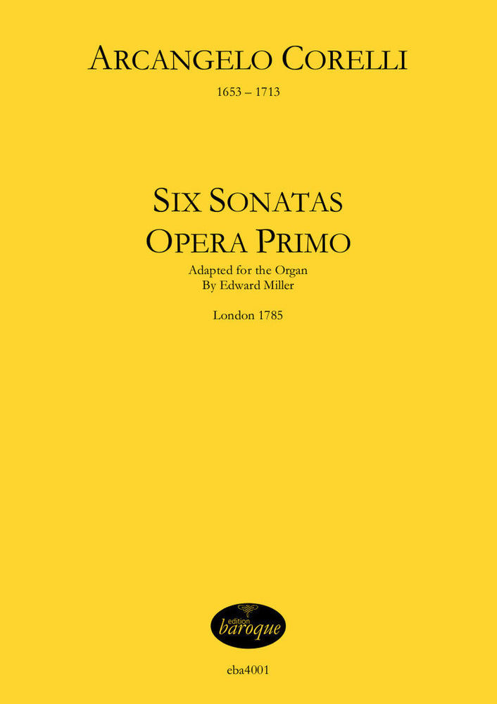 Corelli: Six Sonatas from Opus I Adapted for the Organ