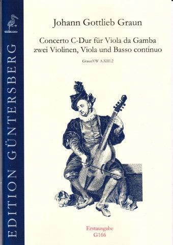 Graun: Concerto in C Major for Viola da Gamba, Strings and Basso Continuo