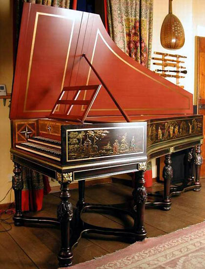 Bizzi French Double Manual Harpsichord 'Goermans-Taskin' 2x8'+4' with Loius XV stand