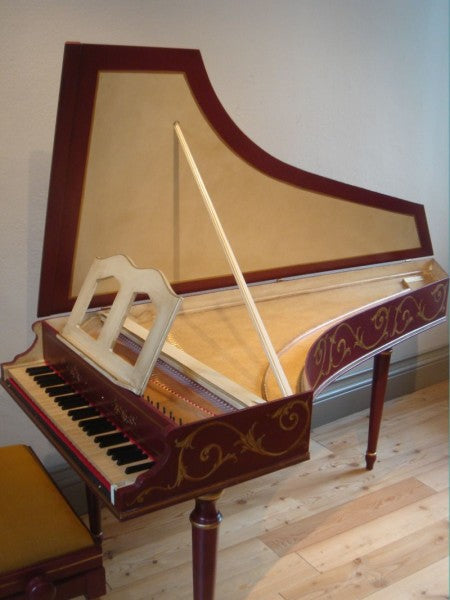 Bizzi Studio 2 Harpsichord 2x8' stop, buff stop and stand