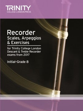 Recorder Scales, Arpeggios & Exercises Initial–Grade 8 from 2017
