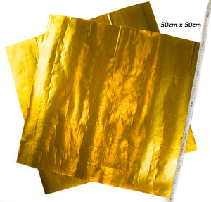 Elite Gold Sheets 50cm x 50cm