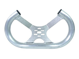 Aluminum (Low Profile) Open Top Tilted Steering Wheel (Unfinished)