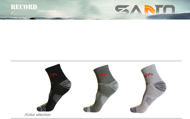 3Pairs Men's Quick Drying Socks Coolmax Outdoor Socks For Hiking Trekking Running Cycling Sports Thermosocks