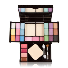 3 Layers Makeup Palette Set Long Lasting Eyeshadow Palette Blusher Lipstick Cosmetic Kit Beauty Foundation Make Up Powder Tool
