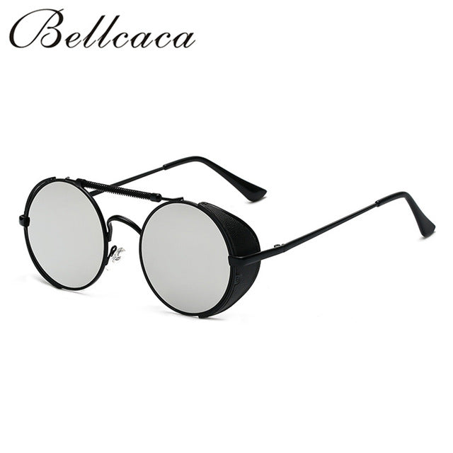 Bellcaca Fashion Steampunk Goggles Sunglasses Women Men Brand Designer Lady Punk Sun Glasses For Female Male UV400  BC060