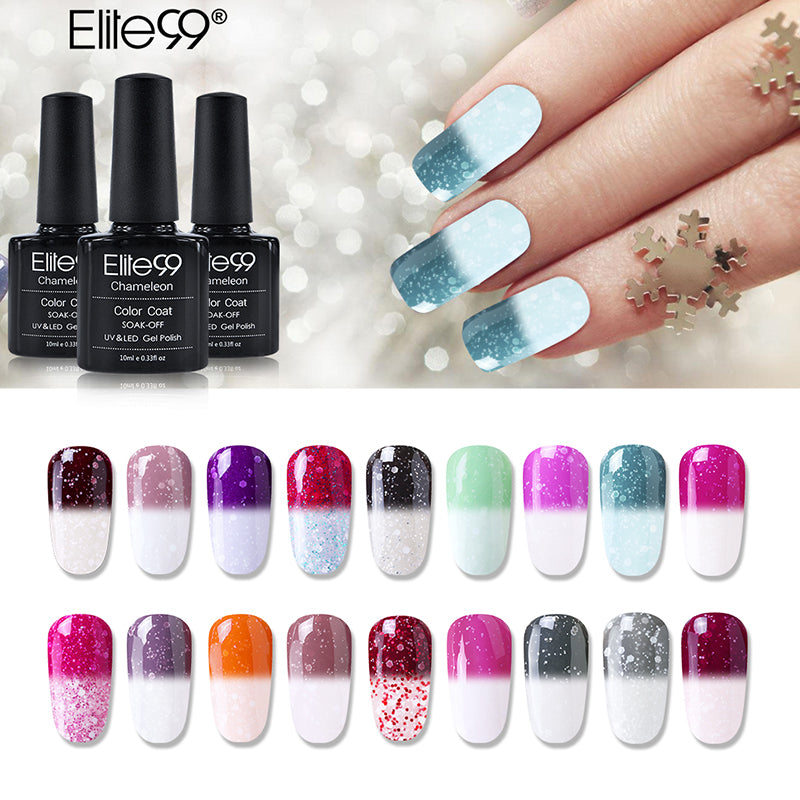 Elite99 Snowy Thermal Temperature Color Changing UV Gel Nail Polish ...