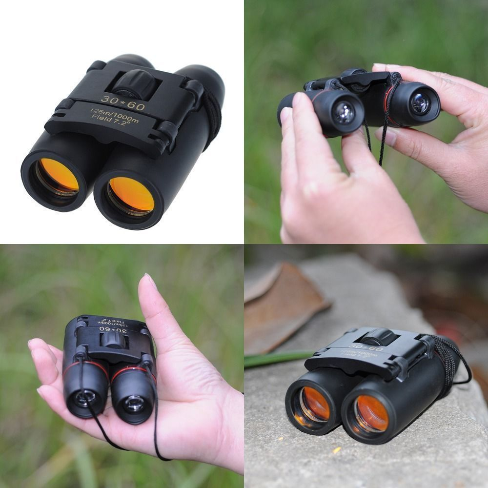 Day Night Vision 30 x 60 Zoom Outdoor Hunting Travel Folding Binoculars Telescope  telescopes astronomic monocular Free ship