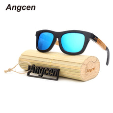 New fashion Products Men Women Glass Bamboo Sunglasses au Retro Vintage Wood Lens Wooden Frame Handmade ZF03