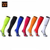 R-bao 1 Pair Men's Soccer Socks Thicken Baseball Football Training Stocking Compression Outdoor Sports Riding Bike Stockings%
